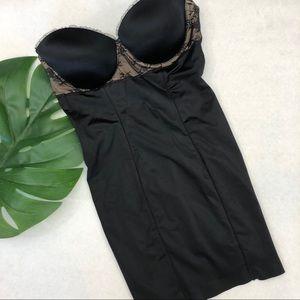 DKNY bustier black shape wear 34D